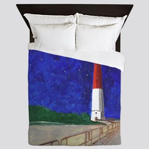 Old Barney Lighthouse Queen Duvet