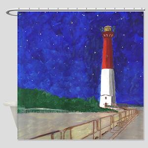 Old Barney Lighthouse Shower Curtain
