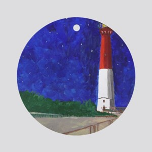 Old Barney Lighthouse Ornament (Round)