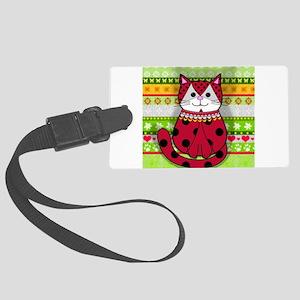 Ladybug Cat Large Luggage Tag