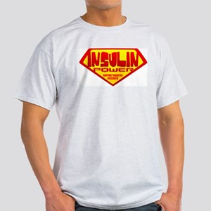 Insulin Power Ash Grey T-Shirt
