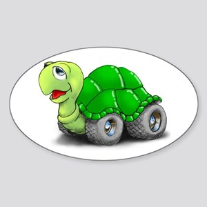 Speedy The Turtle Oval Sticker