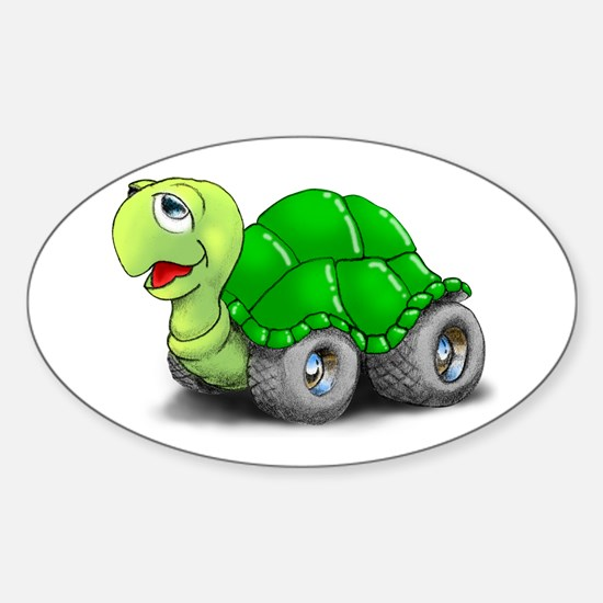 Speedy The Turtle Oval Decal