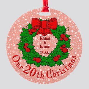 Our 20th Christmas Round Ornament