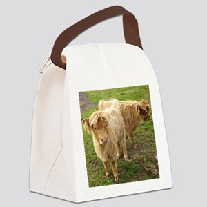 Hieland Coos Canvas Lunch Bag