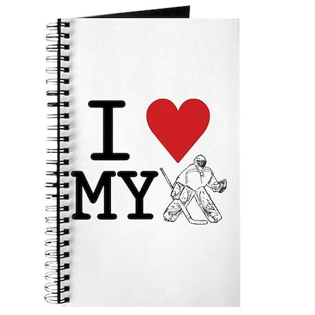 I Love My Goalie (hockey) Journal