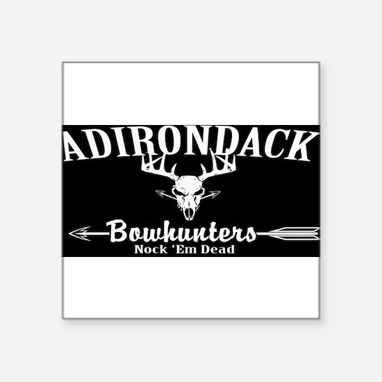 "Adirondack Bow Hunters Inverted Square Sticker 3"""