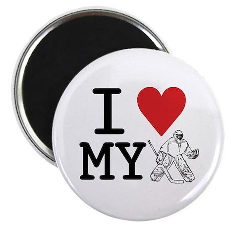 """I Love My Goalie (hockey) 2.25"""" Magnet (10 pack)"""