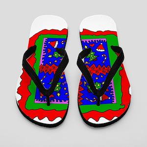 Christmas Mandala1 Flip Flops