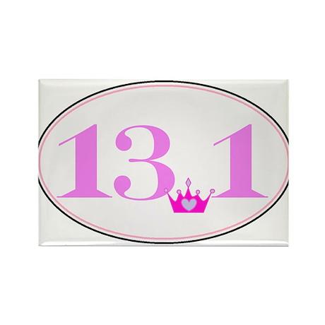 13.1 princess run Rectangle Magnet