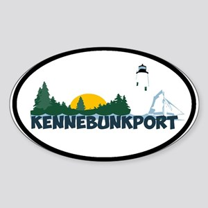 Kennebunkport ME - Beach Design. Sticker (Oval)