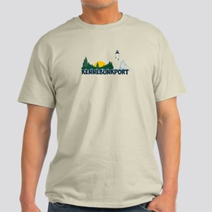 Kennebunkport ME - Beach Design. Light T-Shirt