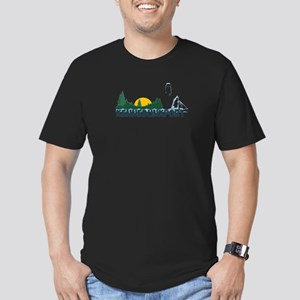 Kennebunkport ME - Beach Design. Men's Fitted T-Sh