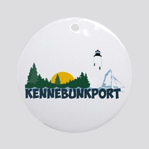 Kennebunkport ME - Beach Design. Ornament (Round)