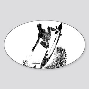 aSURFmoment bw #57 Sticker (Oval)