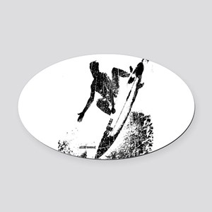 aSURFmoment bw #57 Oval Car Magnet