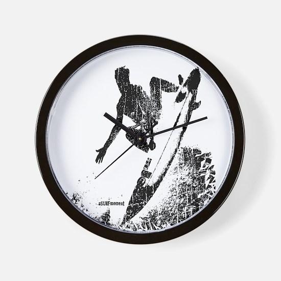 aSURFmoment bw #57.jpg Wall Clock