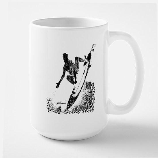 aSURFmoment bw #57.jpg Large Mug