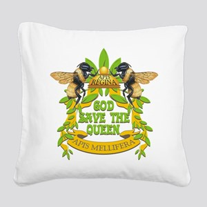 God Save the Queen Square Canvas Pillow