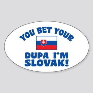 Funny Slovak Dupa Sticker (Oval)