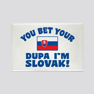 Funny Slovak Dupa Rectangle Magnet