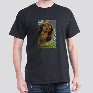 Dachshund Long Haired Dark T-Shirt