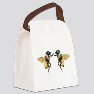 Dancing Bees Canvas Lunch Bag