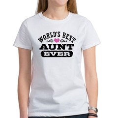 World's Best Aunt Ever Women's T-Shirt