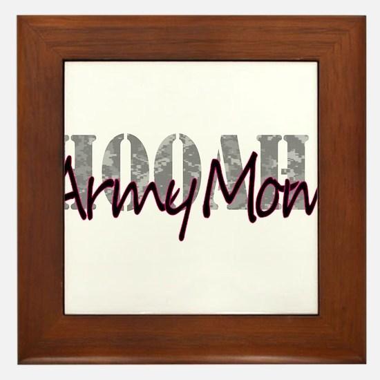 Army Mom Framed Tile
