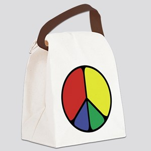 Elegant Peace Color Canvas Lunch Bag