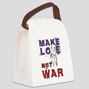 Make Love not War Canvas Lunch Bag