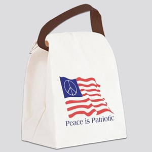 Peace is Patriotic Flag Canvas Lunch Bag