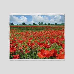 Poppy Fields Throw Blanket