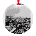 ClearCutProgressTrap Round Ornament