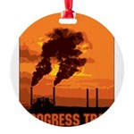 PollutionProgressTrap Round Ornament