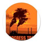 PollutionProgressTrap Round Car Magnet