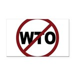 3-No WTO Rectangle Car Magnet