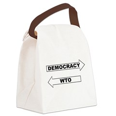 3-Democracy vs WTO Canvas Lunch Bag