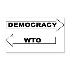 3-Democracy vs WTO Rectangle Car Magnet
