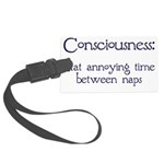 Consciousness-Naps Large Luggage Tag