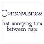 Consciousness-Naps Square Car Magnet 3