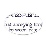 Consciousness-Naps Oval Car Magnet