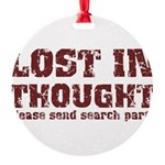 Lost in Thought II Round Ornament