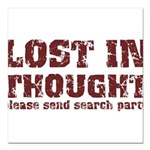 Lost in Thought II Square Car Magnet 3