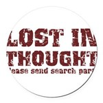 Lost in Thought II Round Car Magnet