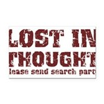 Lost in Thought II Rectangle Car Magnet