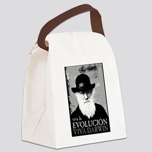 Viva Old Man Darwin Canvas Lunch Bag