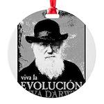 Viva Old Man Darwin Round Ornament