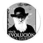 Viva Old Man Darwin Round Car Magnet