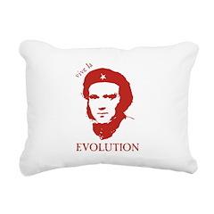 ViveDarwinRed Rectangular Canvas Pillow